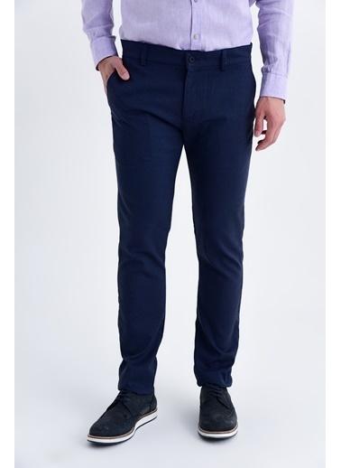 Hatemoğlu Regular Fit Keten Pantolon Lacivert